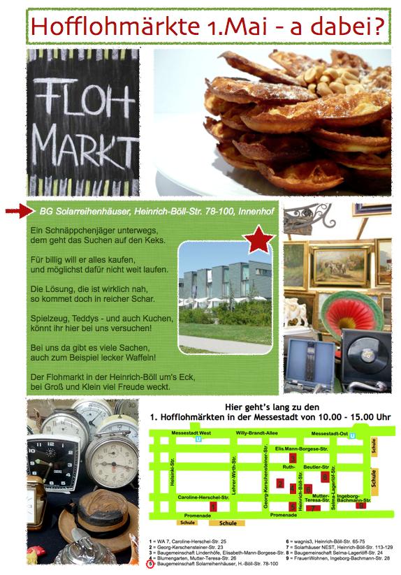 Plakat Hofflohmärkte 1. Mai 2012
